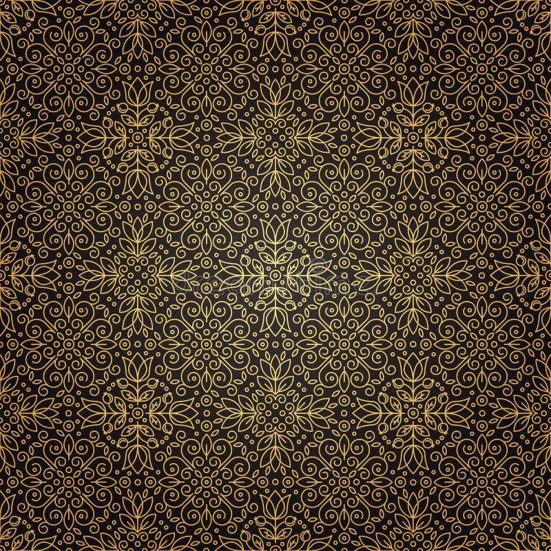 Textura inconsútil con el ornamento geométrico del vintage El vector enrarece el li libre illustration