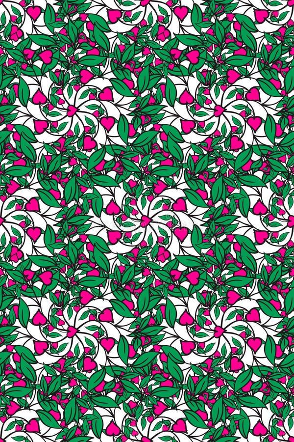 Textura inconsútil con las flores abstractas ilustración del vector