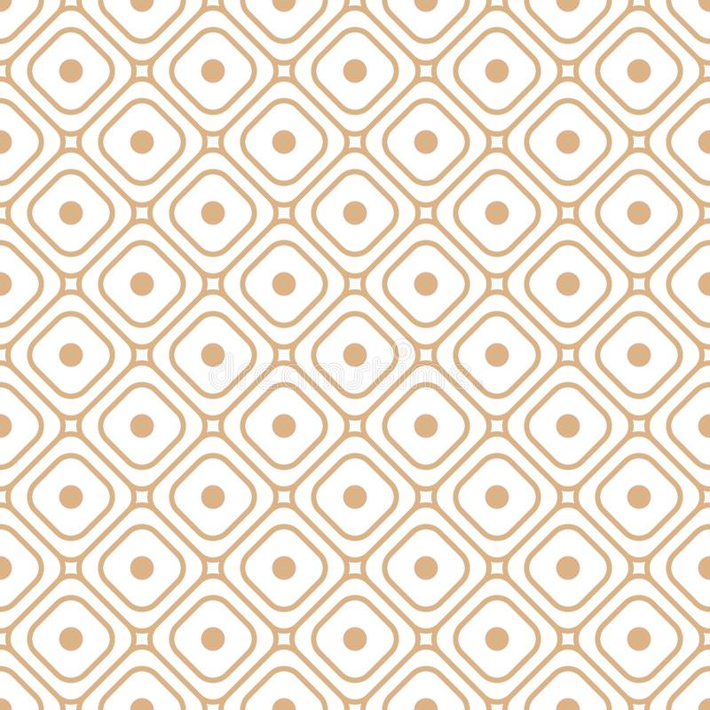 Textura inconsútil con vector geométrico de las formas de la rejilla libre illustration