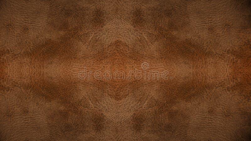Textura inconsútil de cuero marrón clara usada del fondo del modelo para el material de los muebles fotografía de archivo libre de regalías