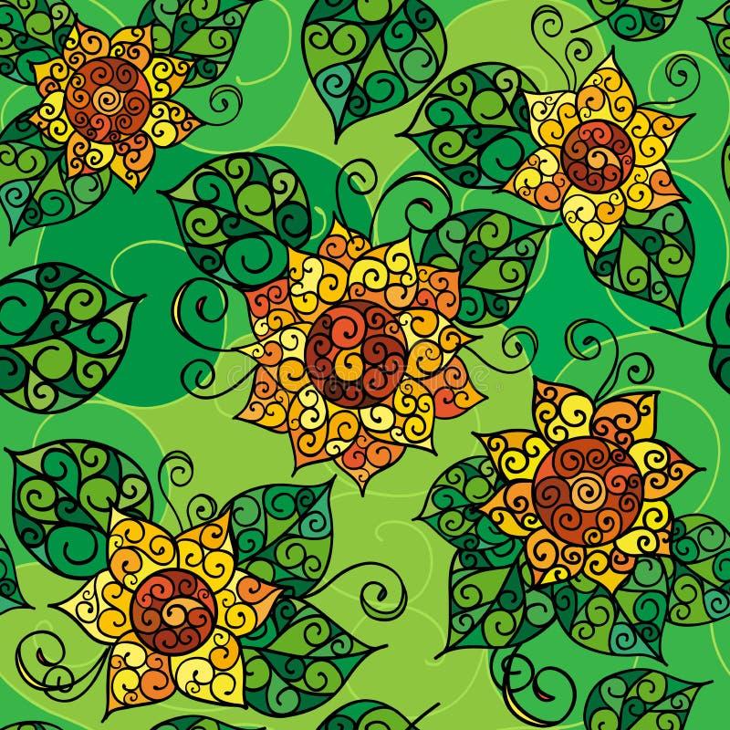 Textura inconsútil de flowers_02 amarillo imagen de archivo libre de regalías