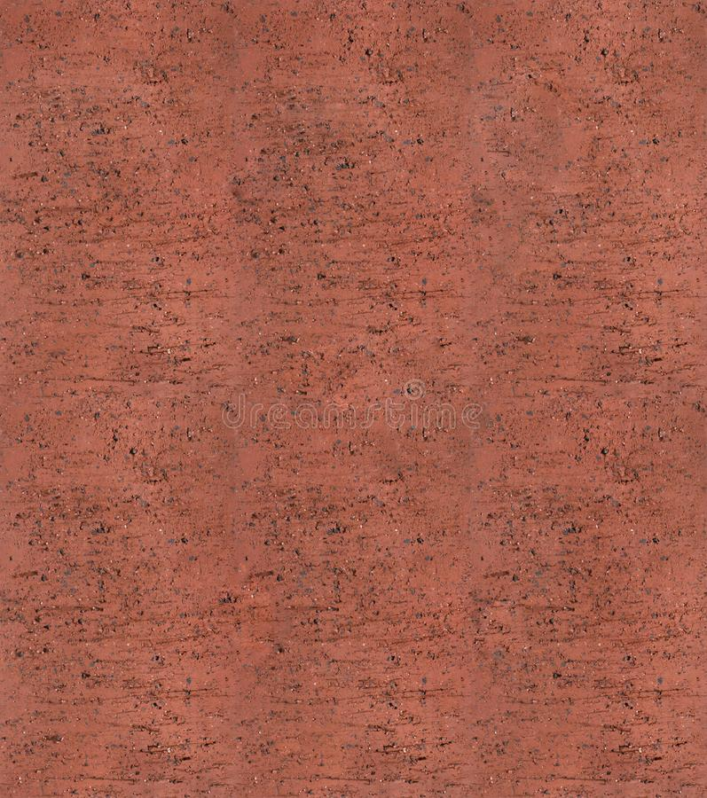 Textura inconsútil de la arcilla del terracota del ladrillo foto de archivo libre de regalías