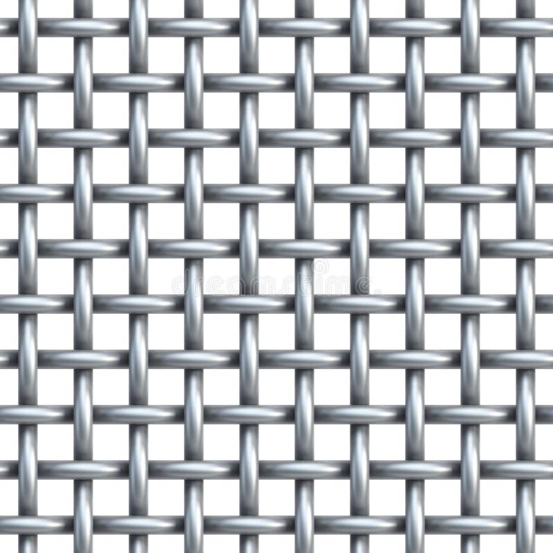 Textura inconsútil de la red del metal ilustración del vector