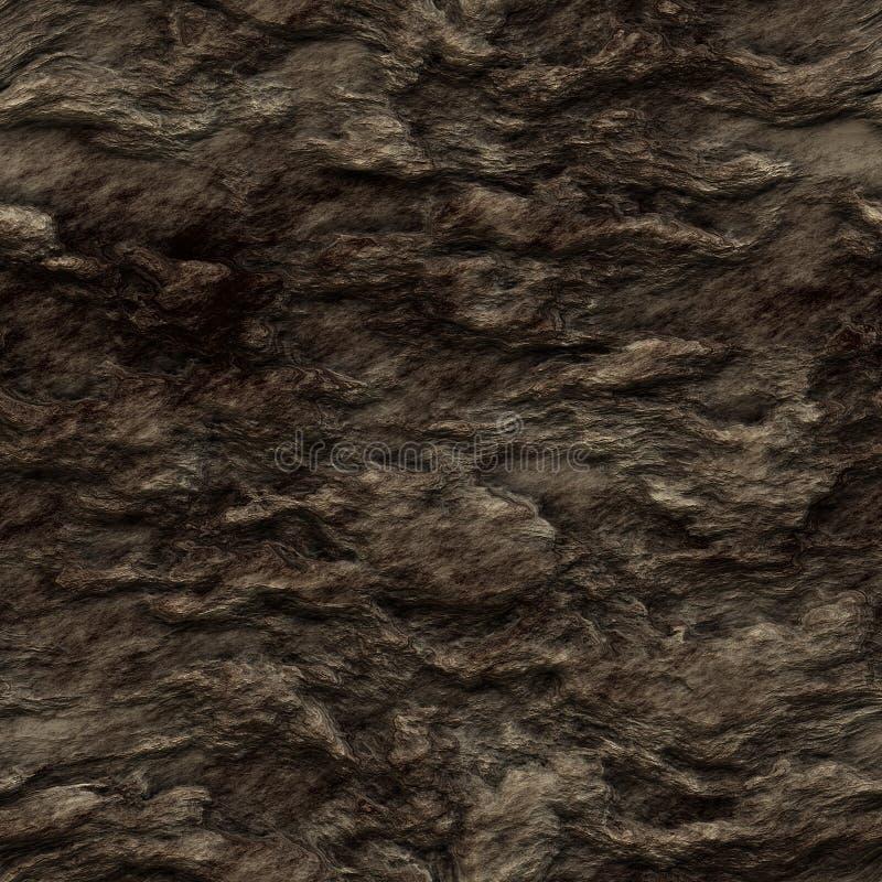 Textura inconsútil de la roca del marrón oscuro stock de ilustración