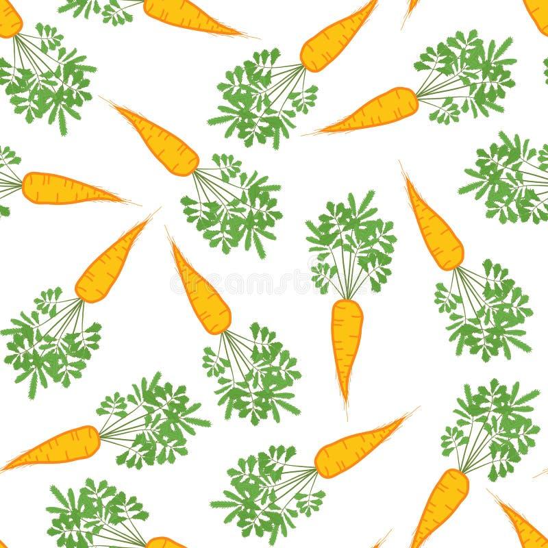 Textura inconsútil de la zanahoria Fondo vegetal sin fin Vector stock de ilustración