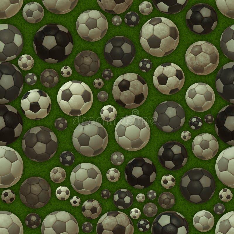 Textura inconsútil de los balones de fútbol libre illustration