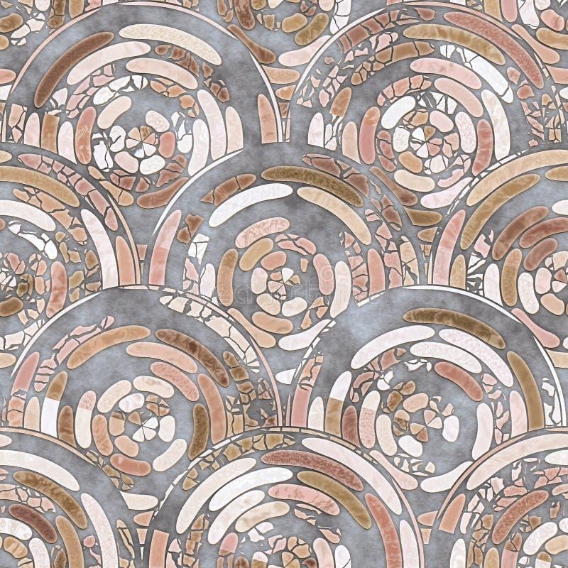 Textura inconsútil de los guijarros del pavimento ilustración del vector