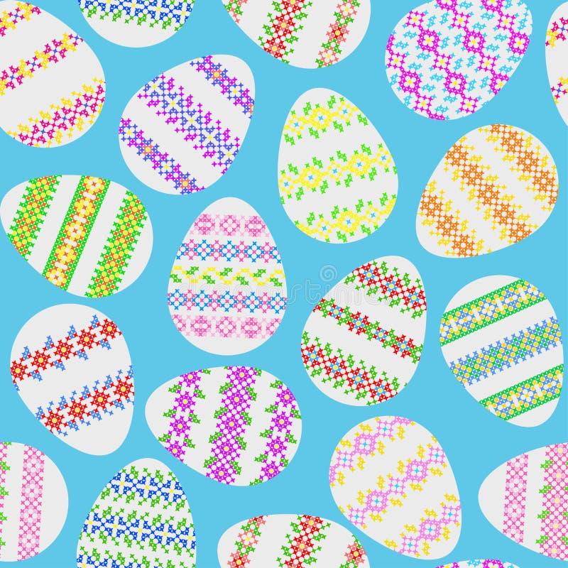 Textura inconsútil de los huevos de Pascua libre illustration