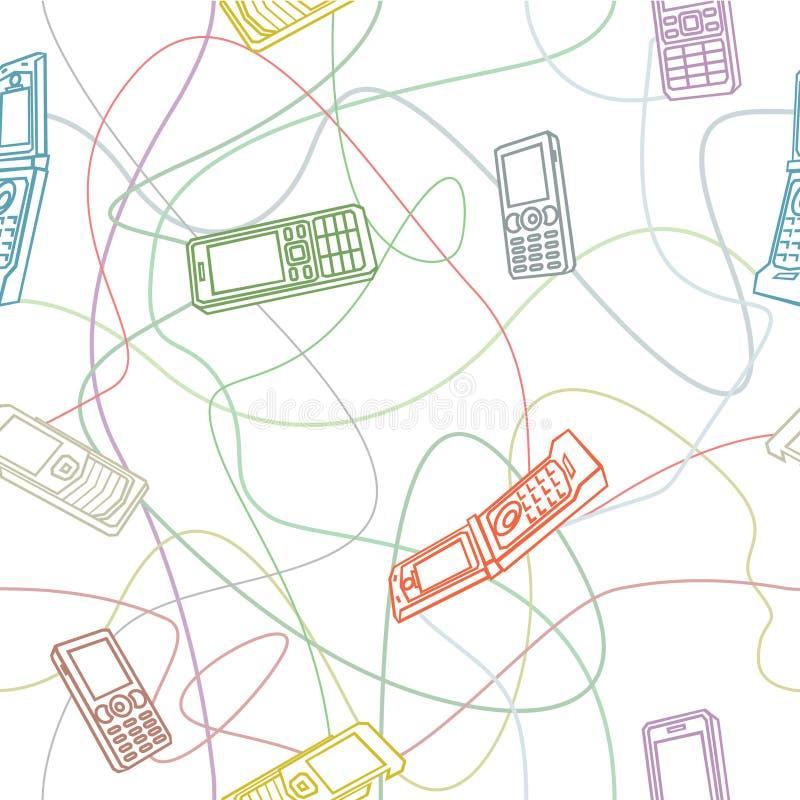 Textura inconsútil de los teléfonos móviles ilustración del vector
