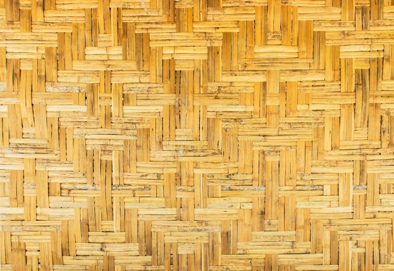 Textura inconsútil de madera del fondo del modelo de la rota marrón clara hecha a mano tradicional tailandesa clásica foto de archivo libre de regalías
