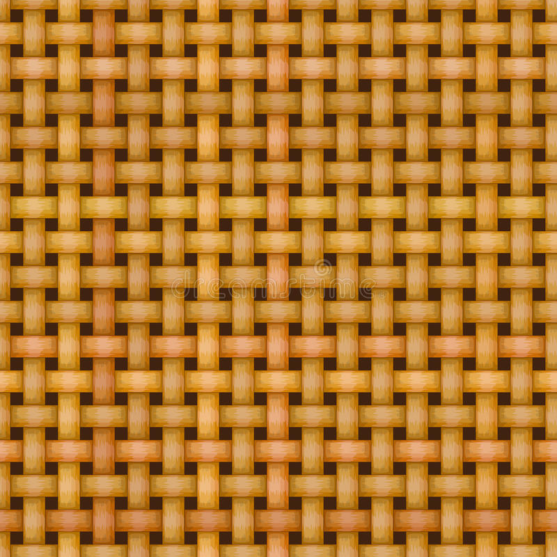Textura inconsútil de mimbre del modelo de la cestería ilustración del vector