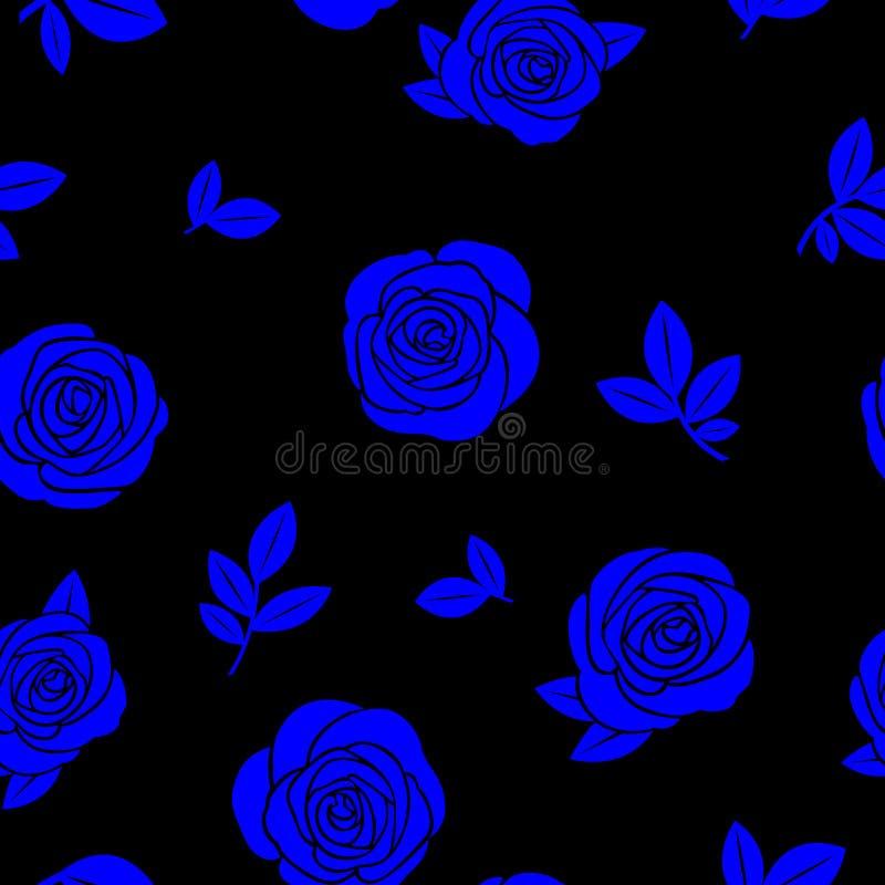 Textura inconsútil de rosas azules ilustración del vector