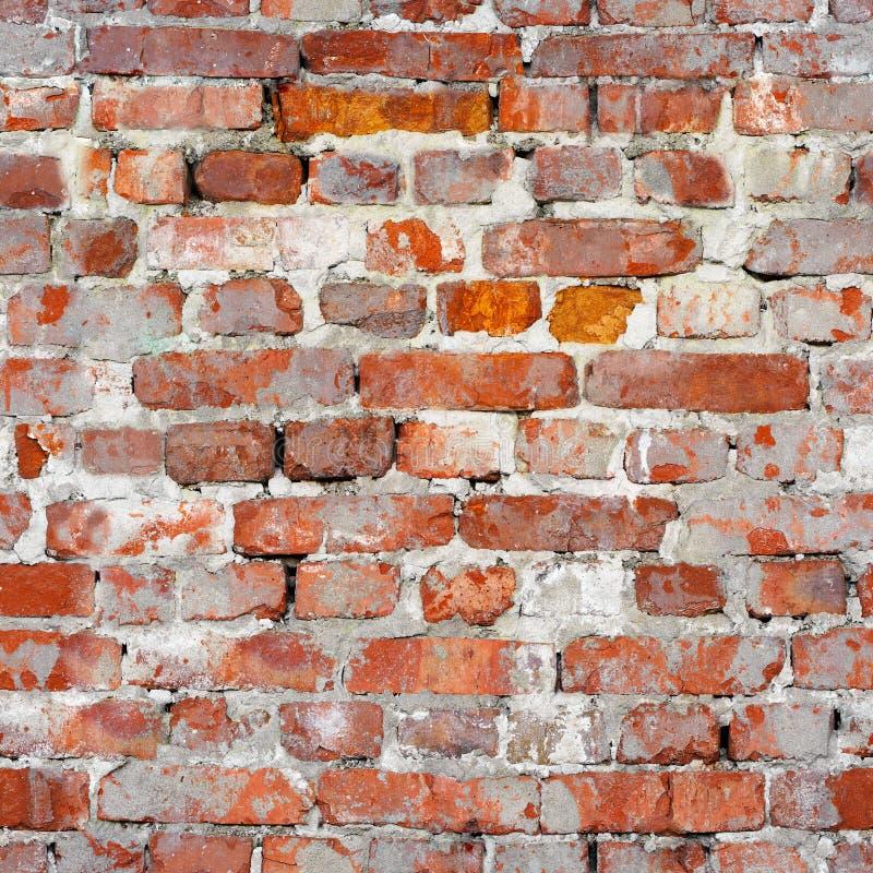 Textura inconsútil de una pared de ladrillo vieja Patte de la arquitectura del Grunge imagen de archivo libre de regalías