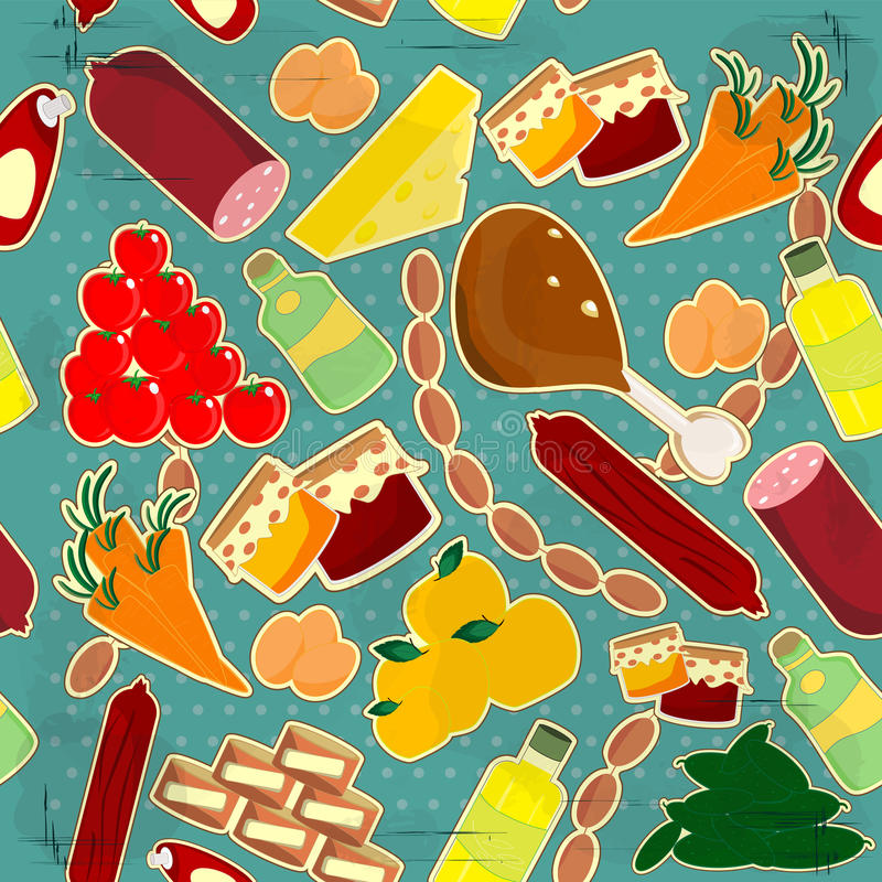 Textura inconsútil del alimento ilustración del vector