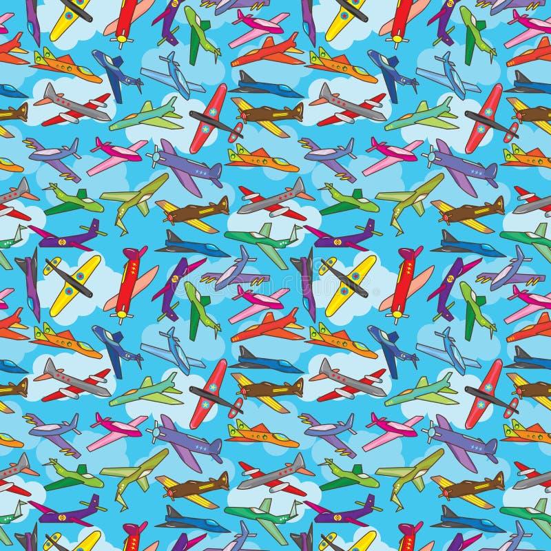 Textura inconsútil del cielo de la mosca del avión libre illustration