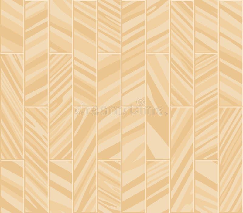 Textura inconsútil del entarimado Un piso hecho de tablones de madera, albañilería de imitación de la lamina libre illustration