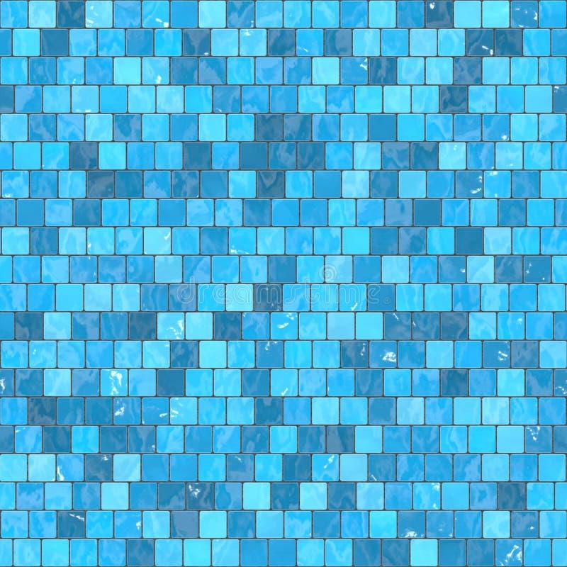 textura inconsútil del fondo azul de cerámica del mosaico en piscina o cocina libre illustration