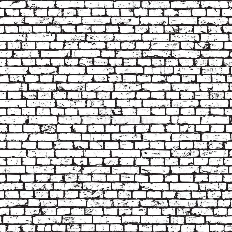 Textura inconsútil del grunge de la pared de ladrillo libre illustration