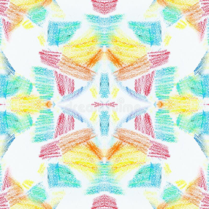 Textura inconsútil del Grunge de movimientos en colores pastel Dibuja con creyón el fondo abstracto inconsútil del grunge Element stock de ilustración