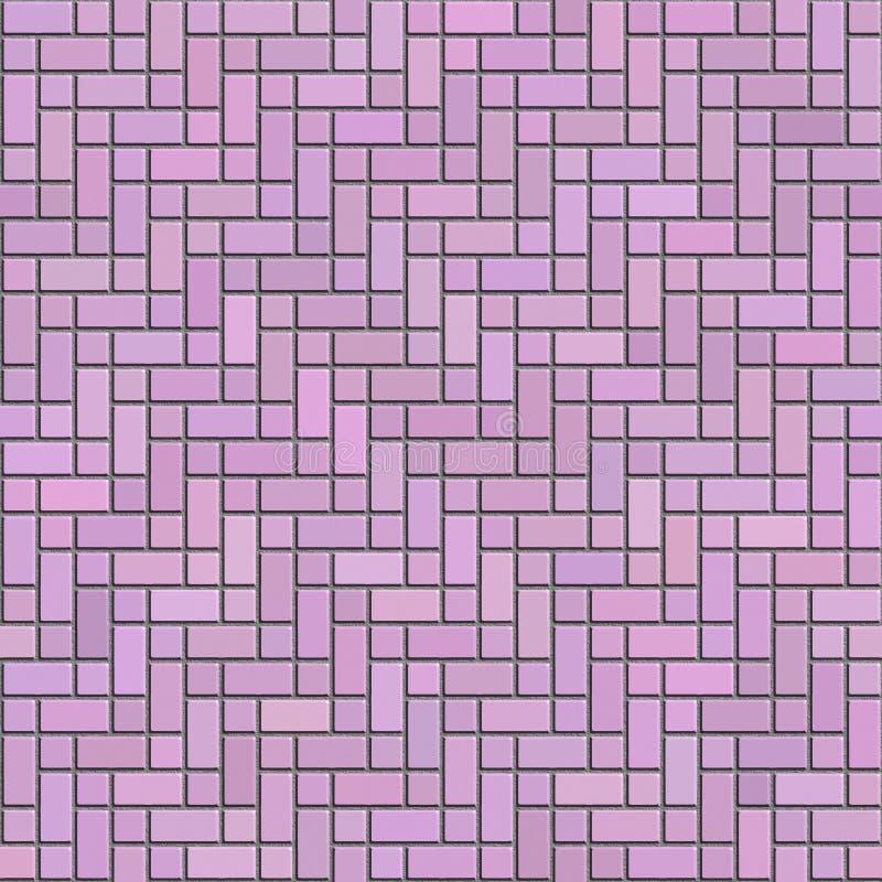 Textura inconsútil del ladrillo decorativo rosado foto de archivo