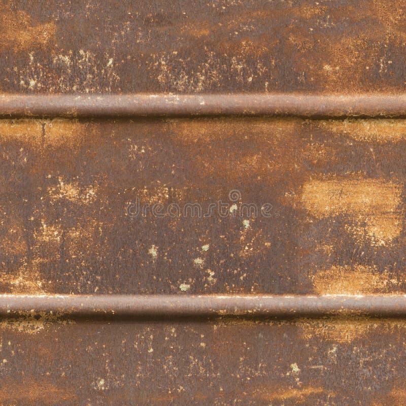 Textura inconsútil del metal oxidado imagen de archivo libre de regalías