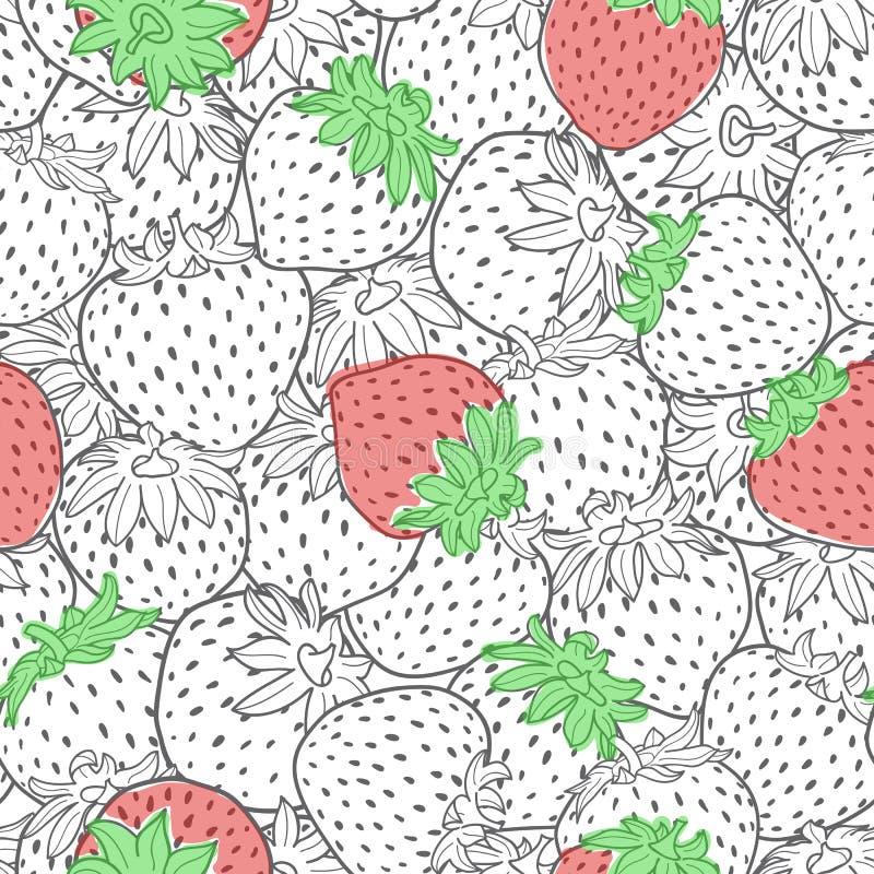 Textura inconsútil del modelo de la fresa del vector ilustración del vector