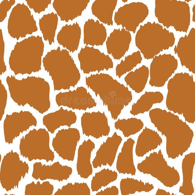 Textura inconsútil del modelo del vector de la piel de la jirafa ilustración del vector