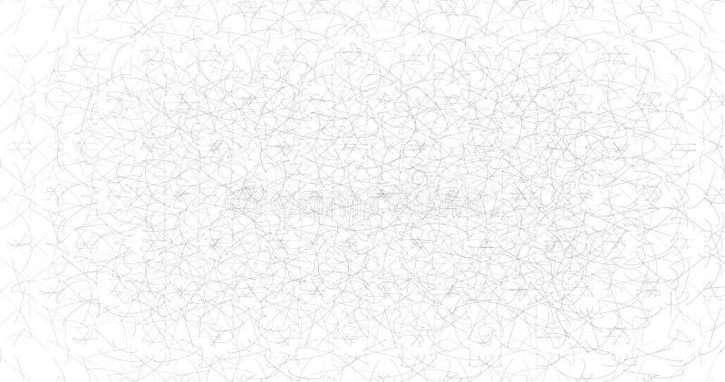 Textura incons?til del pa?o blanco L?neas rizadas Ilustraci?n del vector stock de ilustración