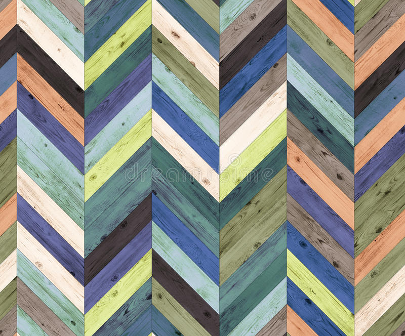 Textura inconsútil del piso del entarimado natural al azar del color de Chevron fotos de archivo libres de regalías
