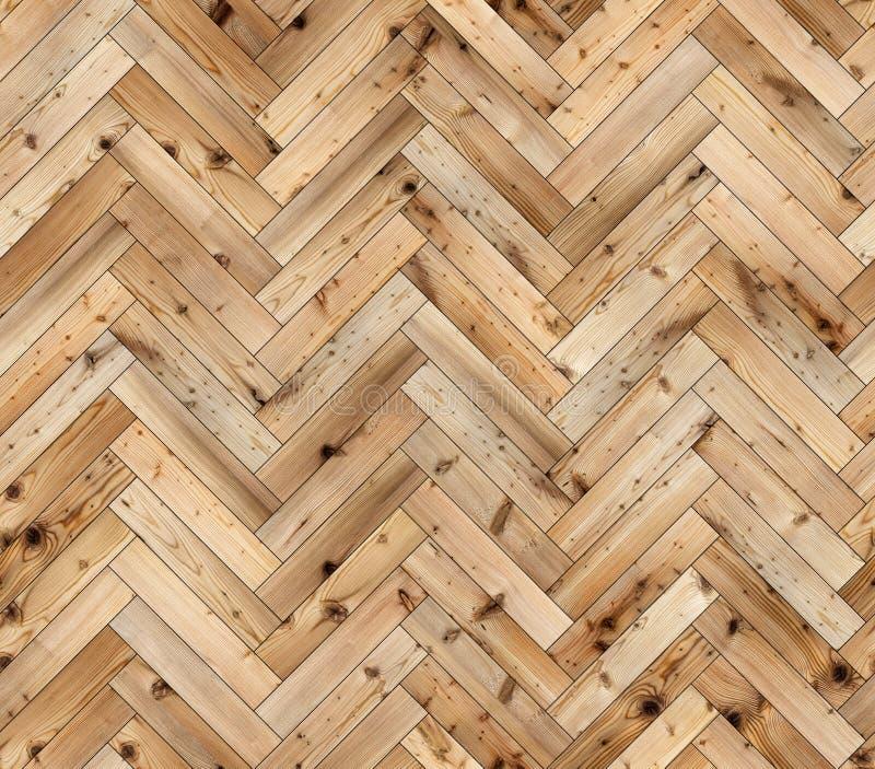Textura inconsútil del piso del entarimado natural del alerce de la raspa de arenque fotografía de archivo libre de regalías