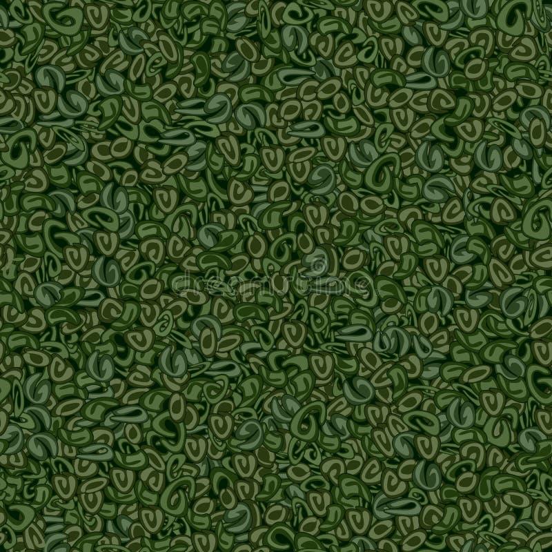Textura inconsútil del té verde de la pólvora stock de ilustración