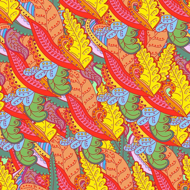 Textura inconsútil del vector con las flores abstractas. Fondo sin fin. Modelo inconsútil étnico. Contexto del vector. Modelo bril libre illustration