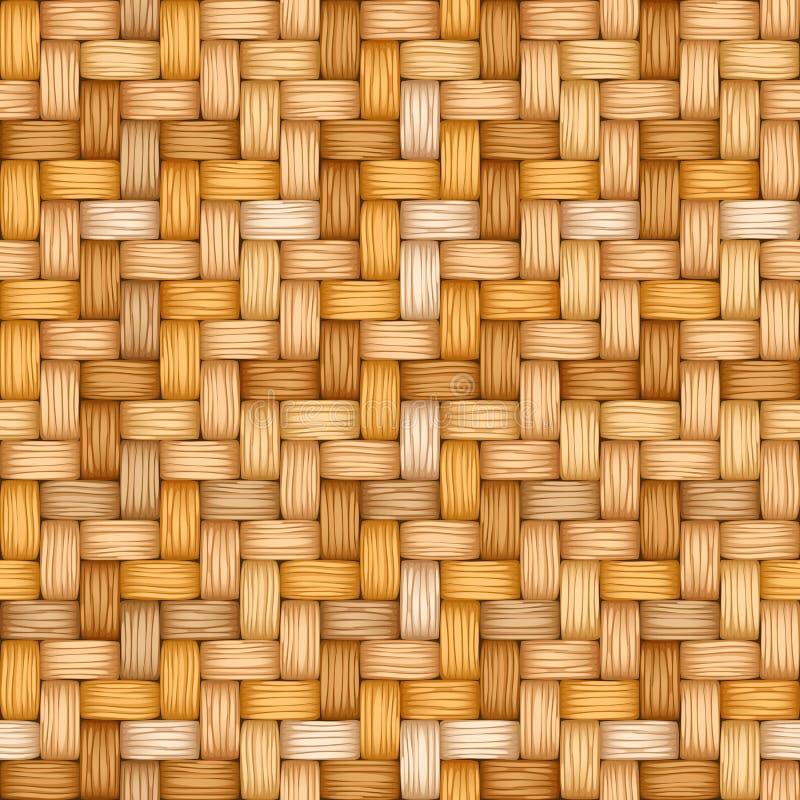 Textura inconsútil del vector de tejer de la paja abigarrada libre illustration