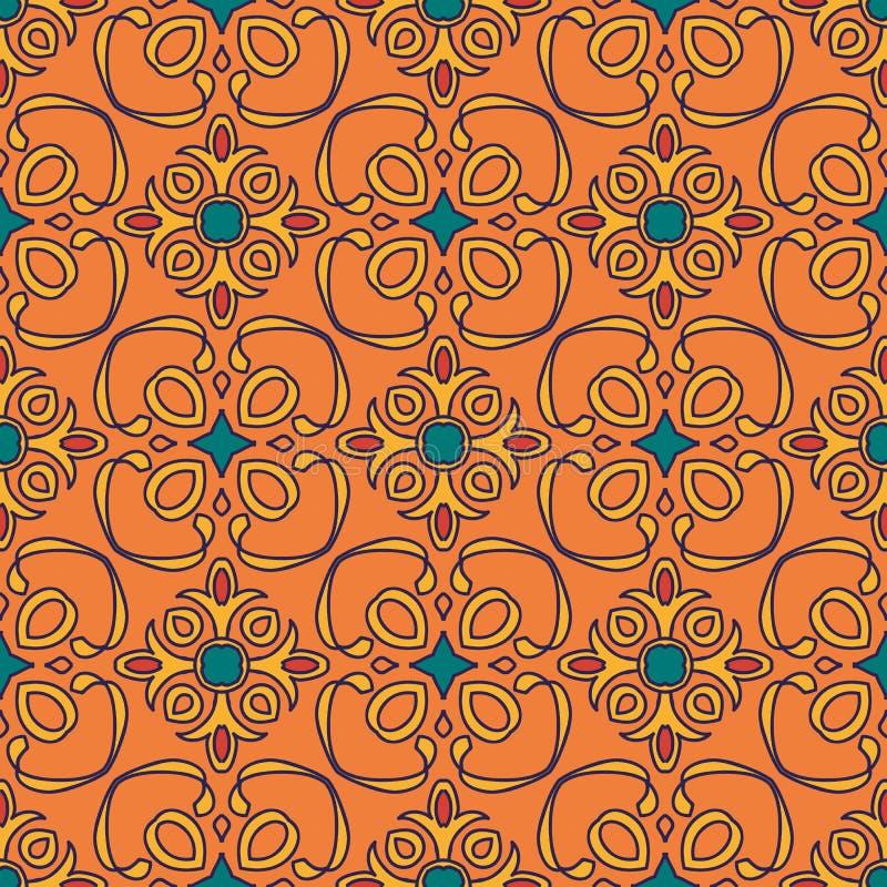 Textura inconsútil del vector Modelo coloreado hermoso para el diseño y moda con los elementos decorativos libre illustration