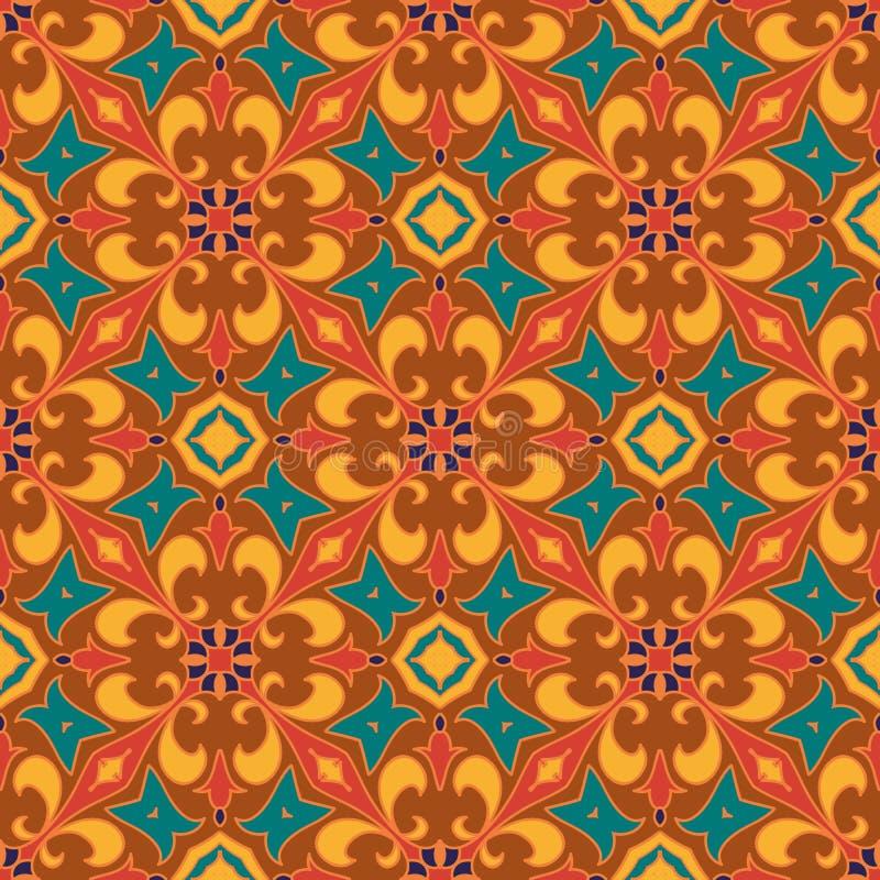 Textura inconsútil del vector Modelo coloreado hermoso para el diseño y moda con los elementos decorativos stock de ilustración