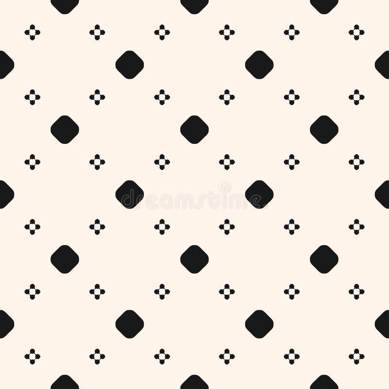 Textura Inconsútil Del Vector, Modelo Geométrico Simple Siluetas De ...