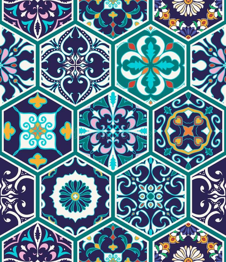 Textura inconsútil del vector Modelo mega hermoso del remiendo para el diseño y moda con los elementos decorativos libre illustration