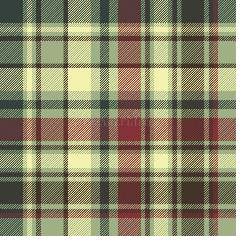 Textura inconsútil diagonal de la tela de la tela escocesa verde stock de ilustración