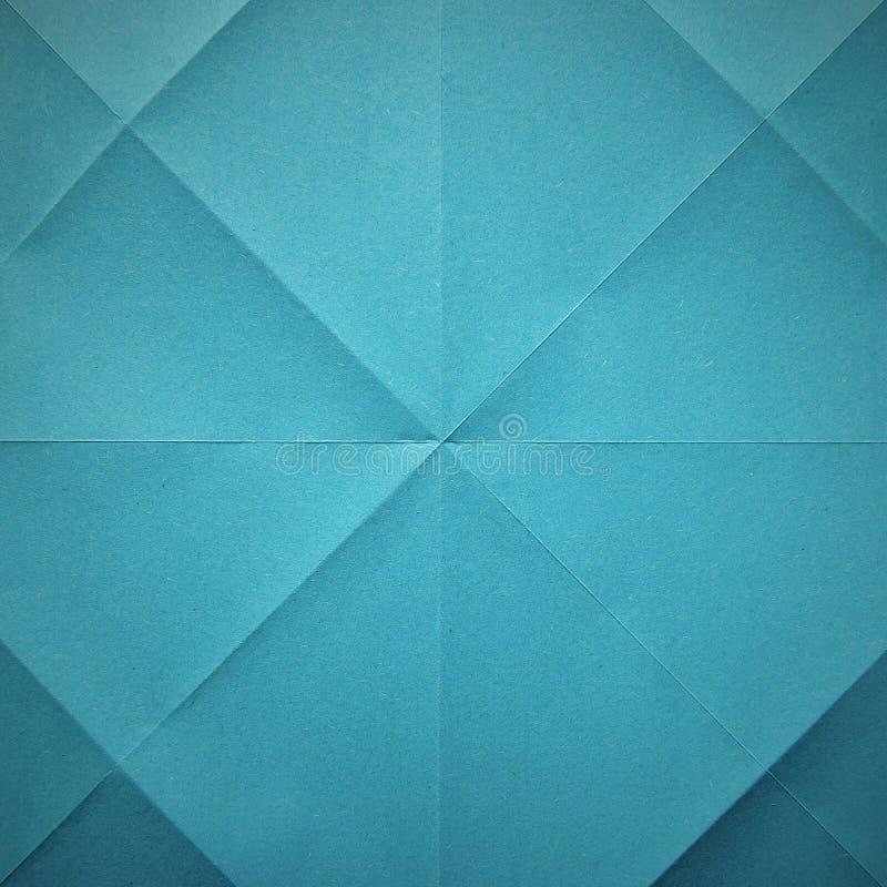 Textura inconsútil doblada azul de la hoja de papel foto de archivo libre de regalías