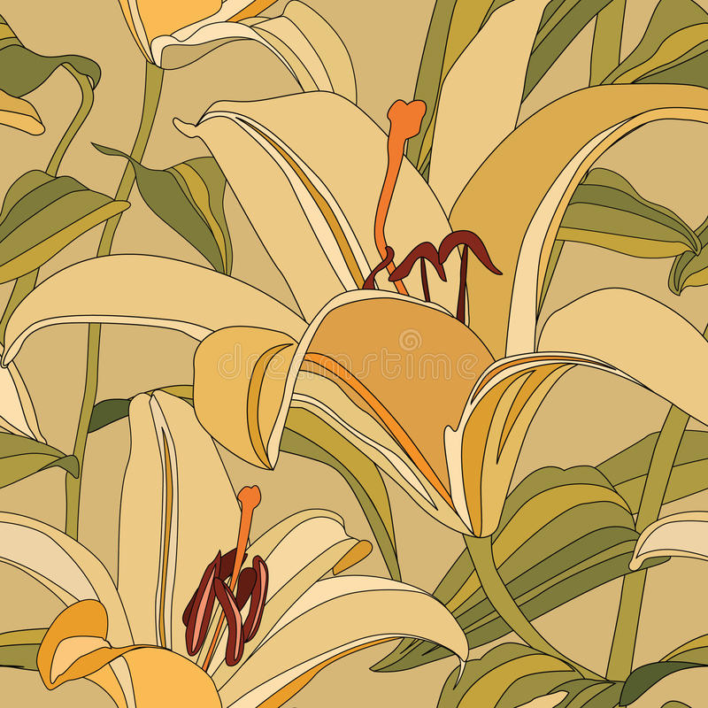 Textura inconsútil floral ilustración del vector