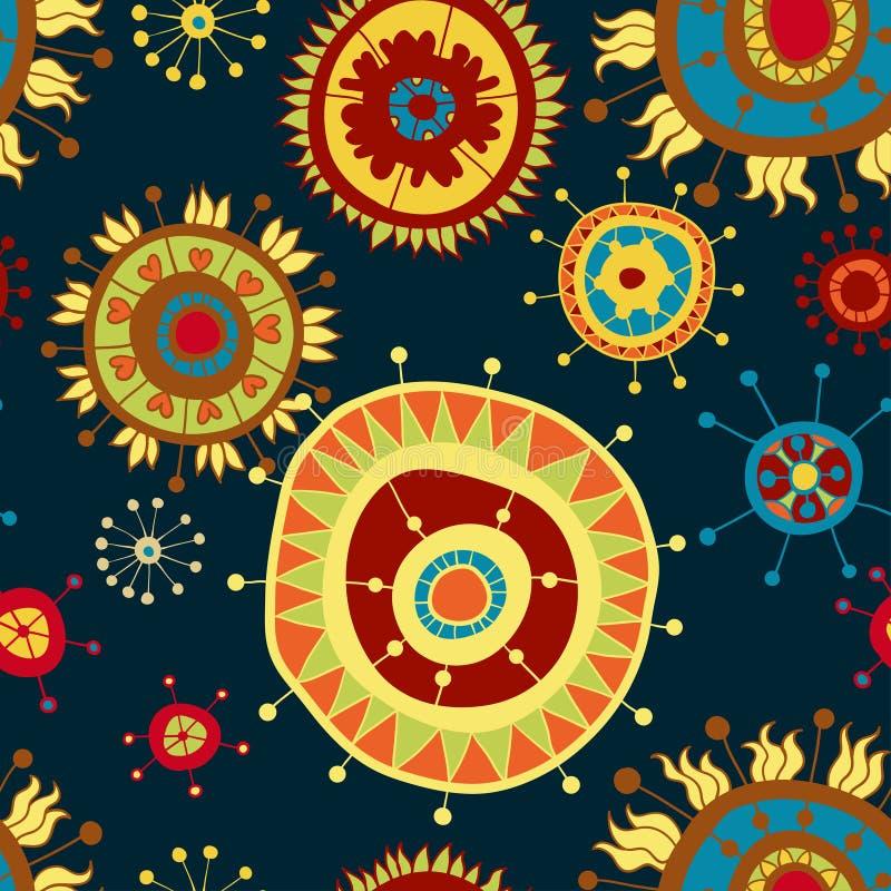 Textura inconsútil floral adornada stock de ilustración
