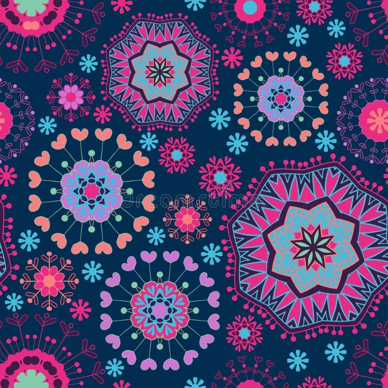 Textura inconsútil floral adornada libre illustration