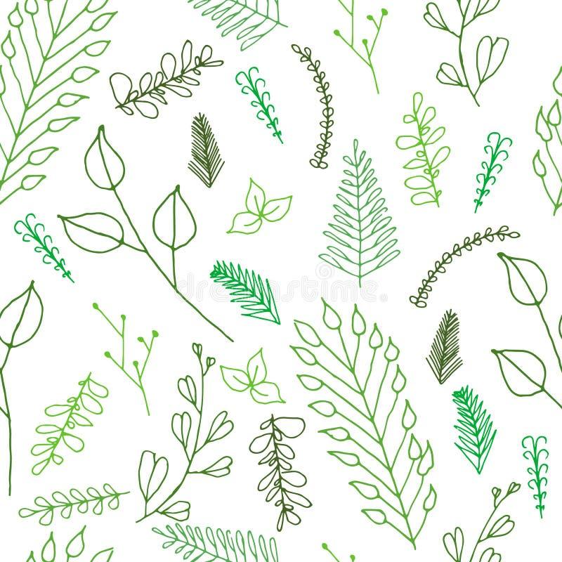 Textura inconsútil floral adornada del garabato stock de ilustración