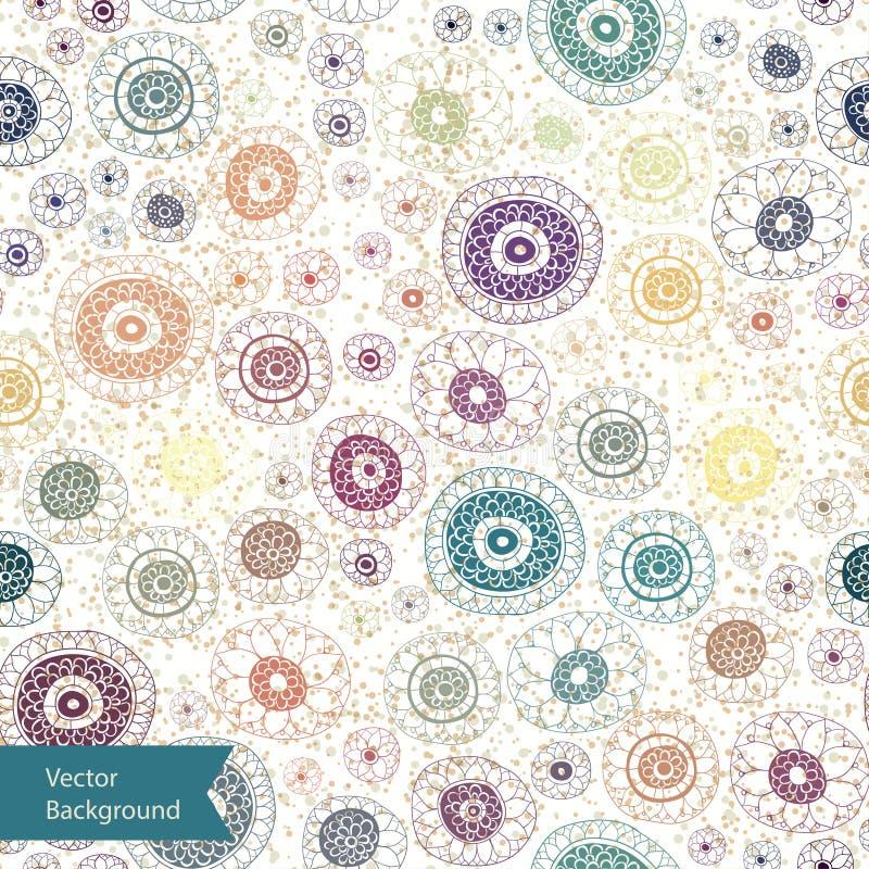 Textura inconsútil floral adornada, modelo sin fin libre illustration
