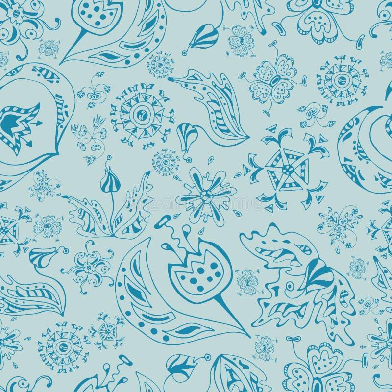 Textura inconsútil floral adornada, modelo sin fin con las flores ilustración del vector