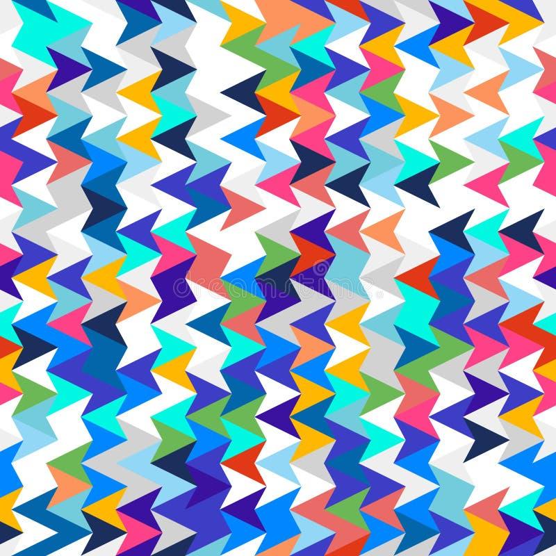 Textura inconsútil geométrica abstracta Modelo para la ropa moderna brillante de la juventud stock de ilustración