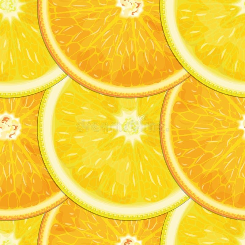 textura inconsútil Limón-anaranjada ilustración del vector