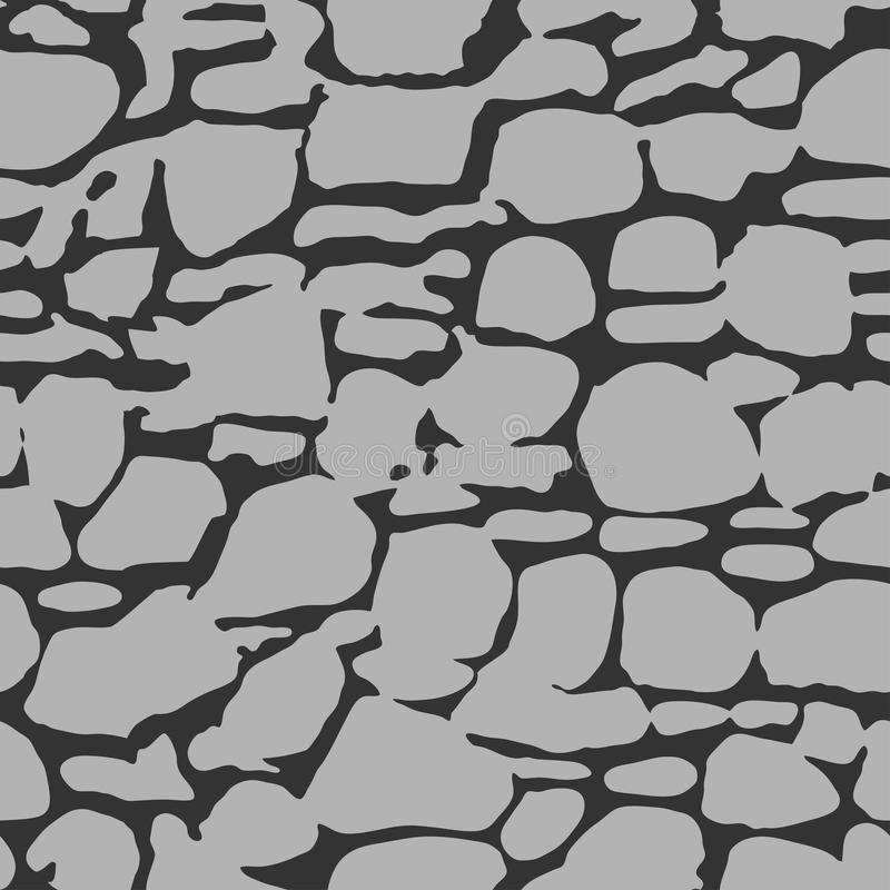 Textura inconsútil simple de la pared de piedra stock de ilustración