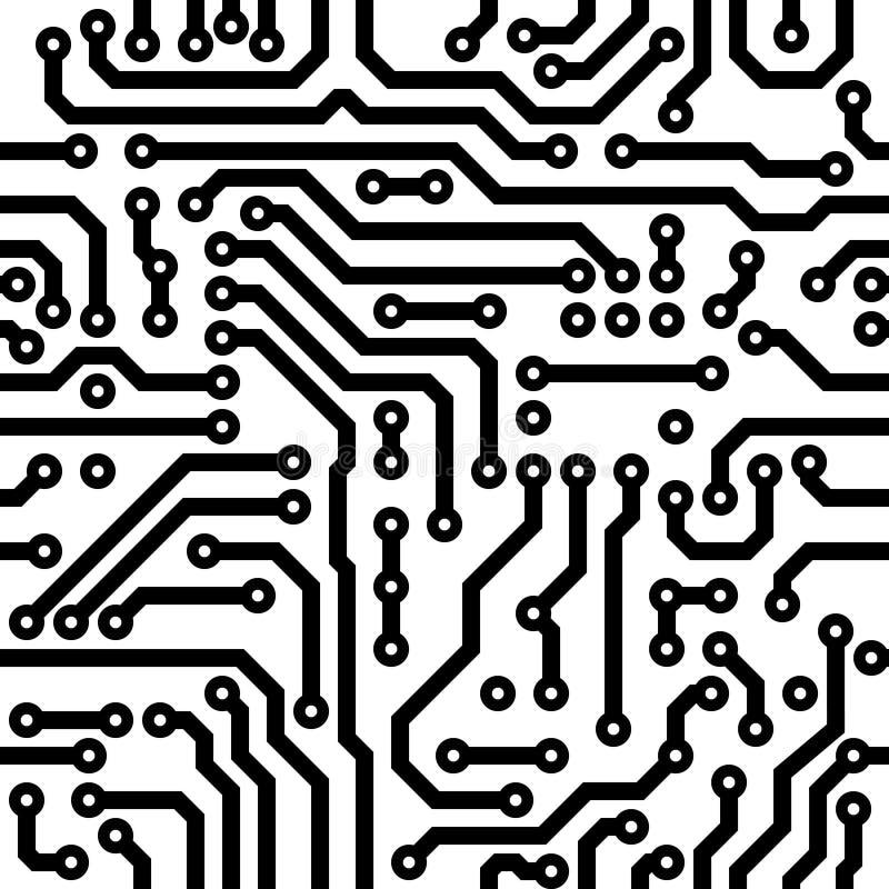 Textura inconsútil - tarjeta de circuitos ilustración del vector