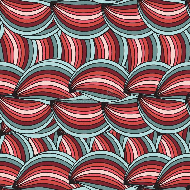 Textura inconsútil vertical del vector con el wav abstracto ilustración del vector